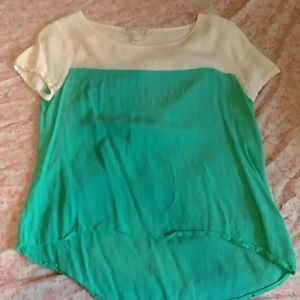 Forever21 Colorblock Blouse